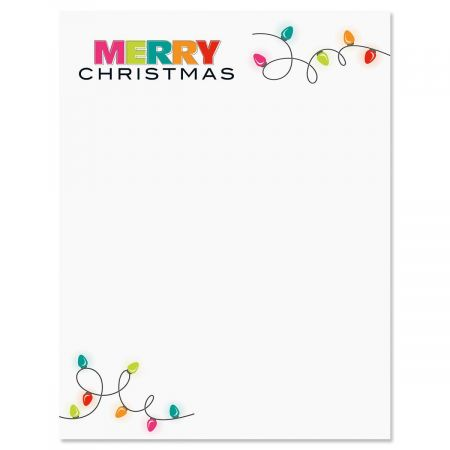 Christmas Lights Christmas Letter Papers Current Catalog