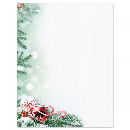 Crystal Pineboughs Christmas Letter Papers Current Catalog