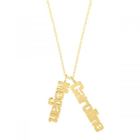 Details About Necklace With My Name Solid 14k Gold Chain 14k Gold Nameplate Necklace 10k 9k