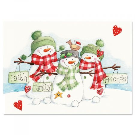Snowmen Trio Christmas Cards Current Catalog