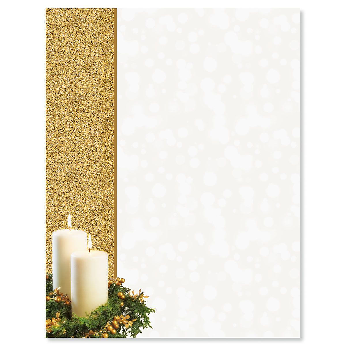Gold Candle Christmas Letter Papers Current Catalog