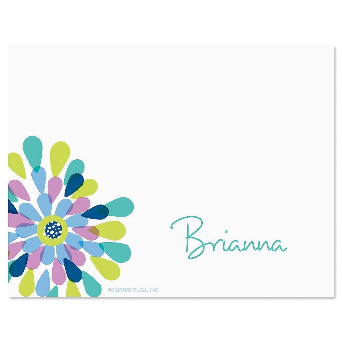 Fresh Blooms Correspondence Card Current Catalog