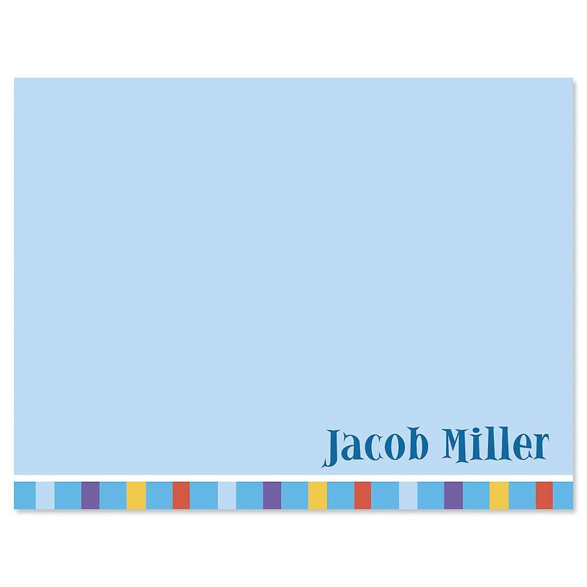 Color Bar Personalized Note Cards Current Catalog