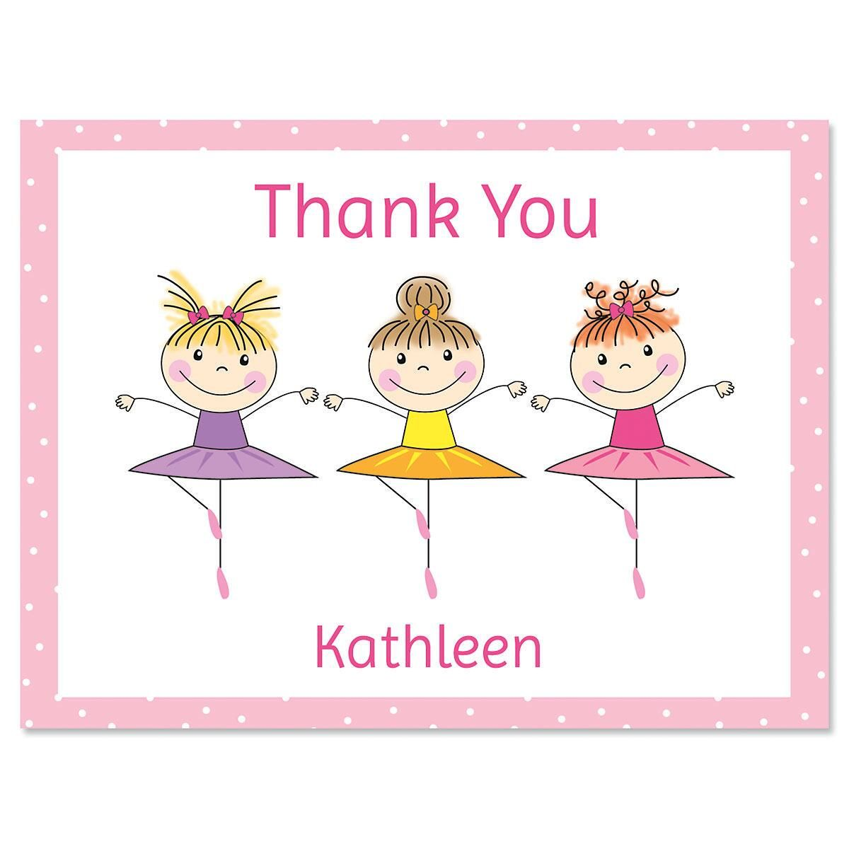 Tiny Dancer Personalized Thank You Note Cards Current