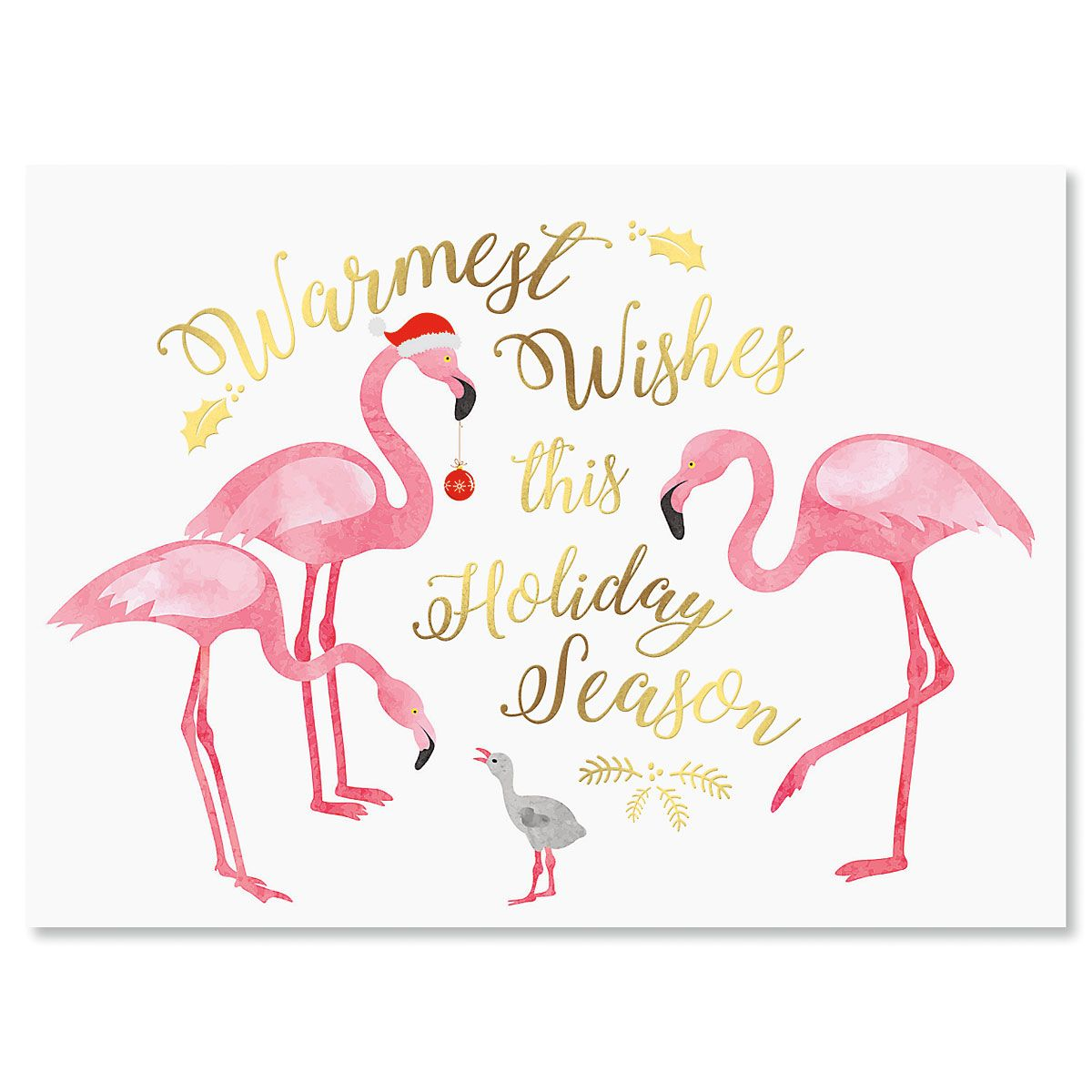 Flamingo Deluxe Foil Christmas Cards Current Catalog