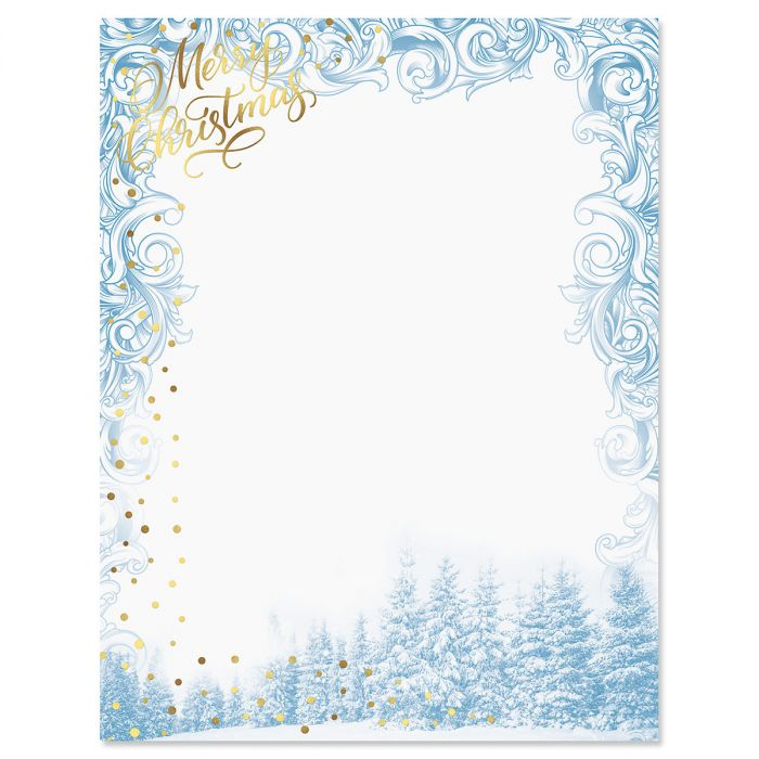 Deluxe Winter Sparkle Christmas Letter Papers Current