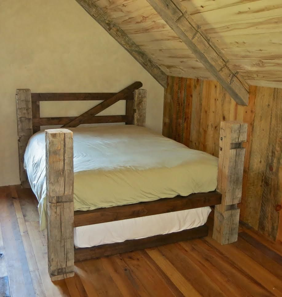 Custom Reclaimed Post Amp Trundle Bed By Gerspach