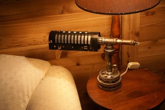 Hand Crafted Steampunk Custom Desk Lamp With Pressure