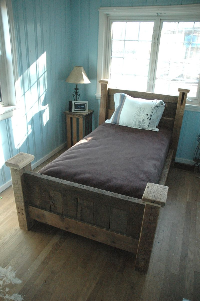Custom Reclaimed Wood Bed Frame By Decorus Furnishings