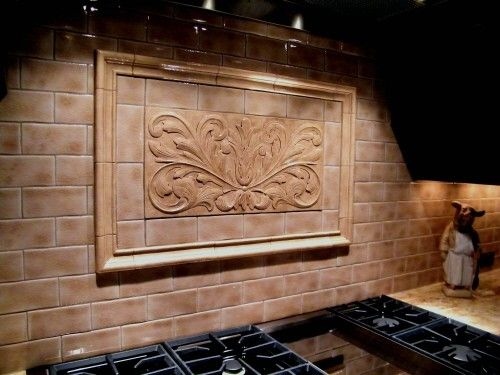 Handmade Decorative Backsplash Using Toulouse Tile And