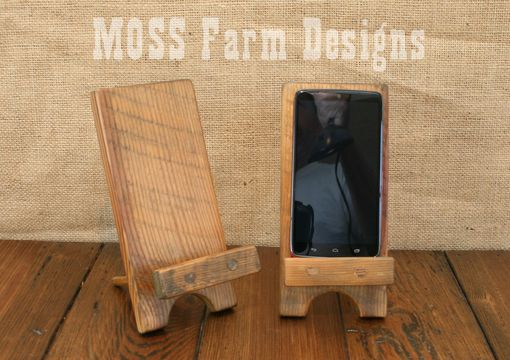 Buy A Hand Made Adjustable Reclaimed Wood Rustic Phone Dock Iphone Stand Charging Station Droid