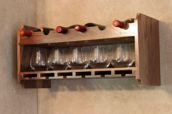 handmade walnut wine rack by dorch