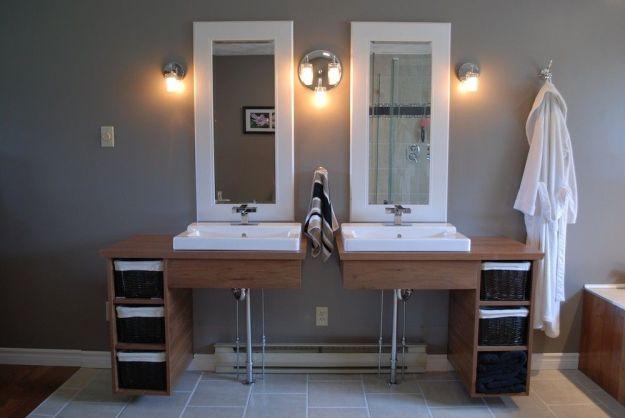 handmade custom floating bathroom vanitiesclark wood creations