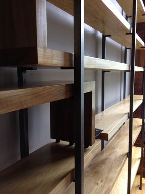 Handmade Wood And Steel Floating Book Shelves By Object A