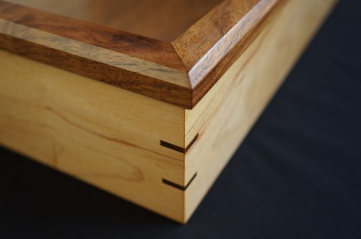 Hand Made Shadow Box Solid Maple And Walnut By Musheno