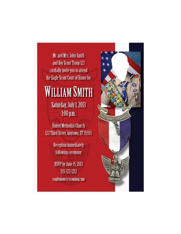 Hand Made Custom Eagle Scout Court Of Honor Invitations By