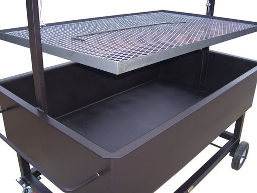 Hand Crafted Large Santa Maria Bbq Pit Grill By JD