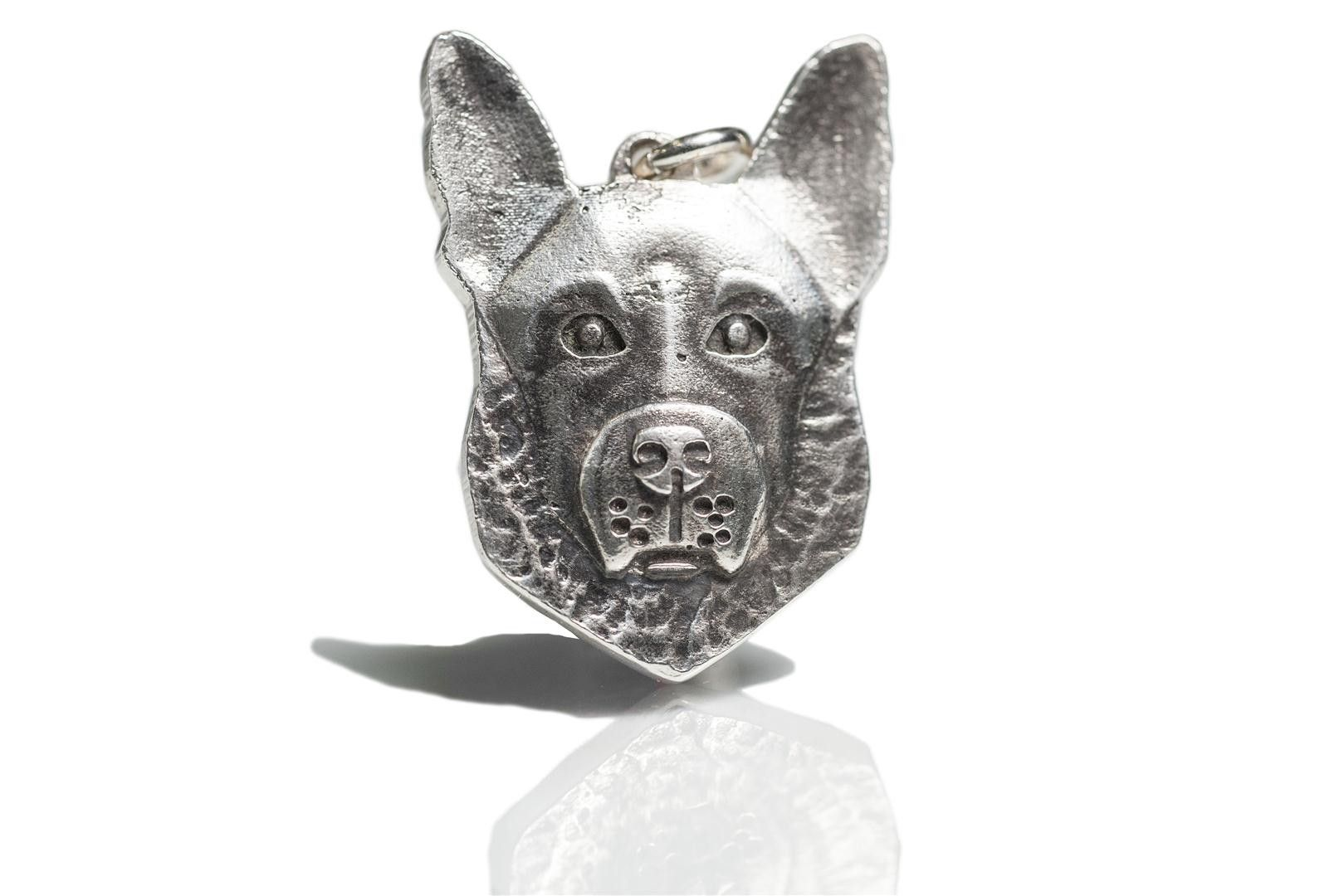 Hand Crafted Custom Dog Pet Head German Shepherd Jewelry