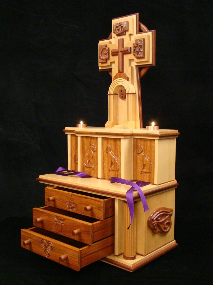 Hand Crafted Cat Crypt Home Altar By Kevin White Designs