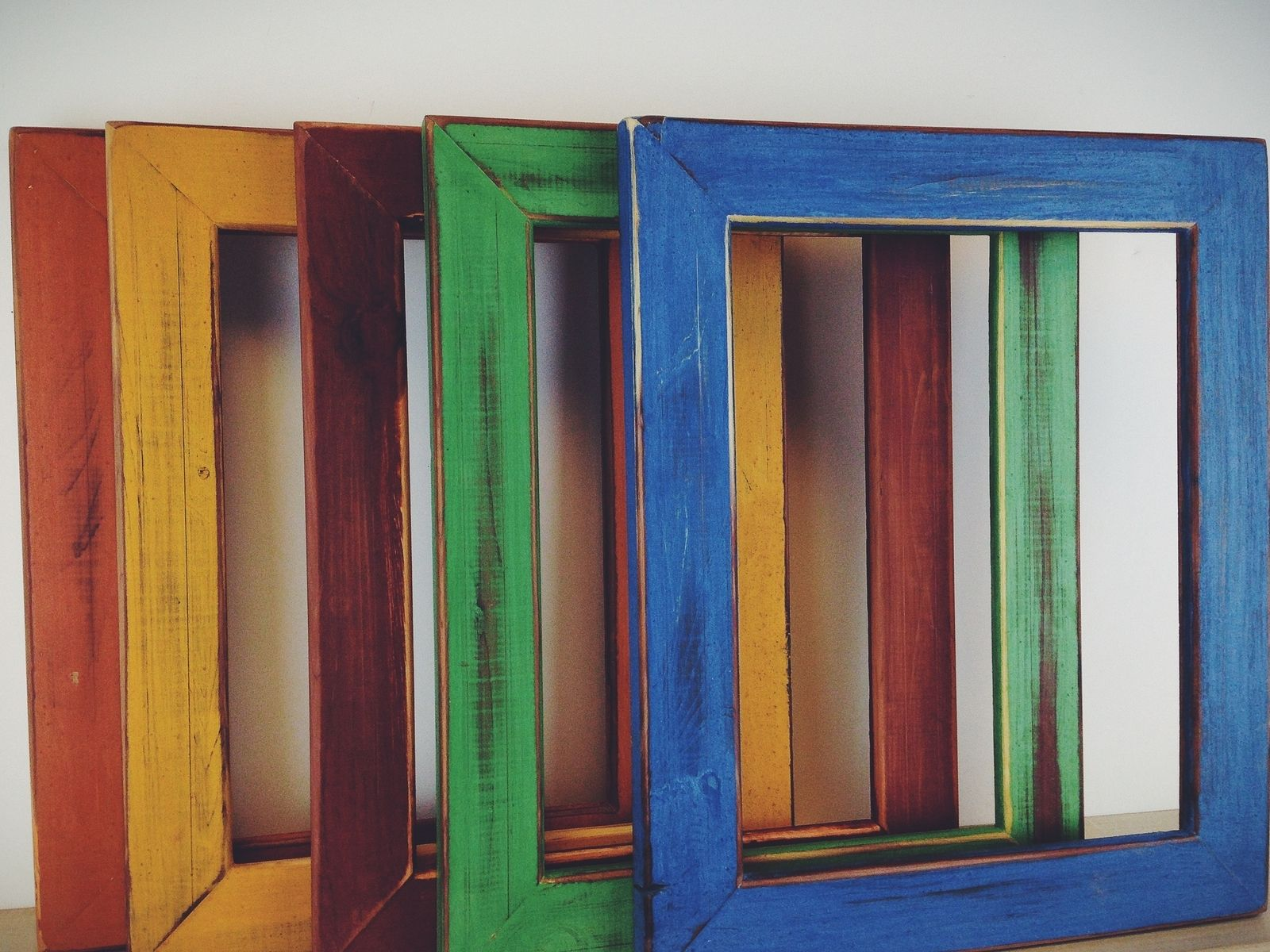 Hand Made Colorful Hand Painted Picture Frames