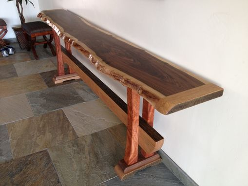 Hand Made Foyer Table By Natural Edge Saw Works
