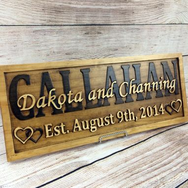 Buy A Hand Made Last Name Established Sign Family Name