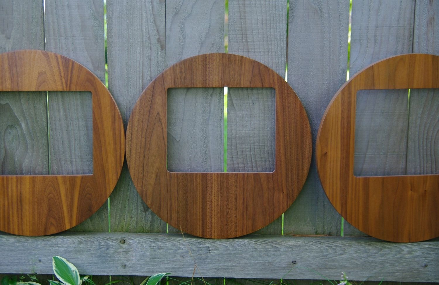 Handmade Round Mid Century Modern Picture Frame Set Of