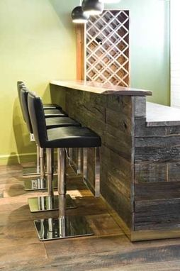 Hand Crafted Reclaimed Wood Bar By Union Square Vintage