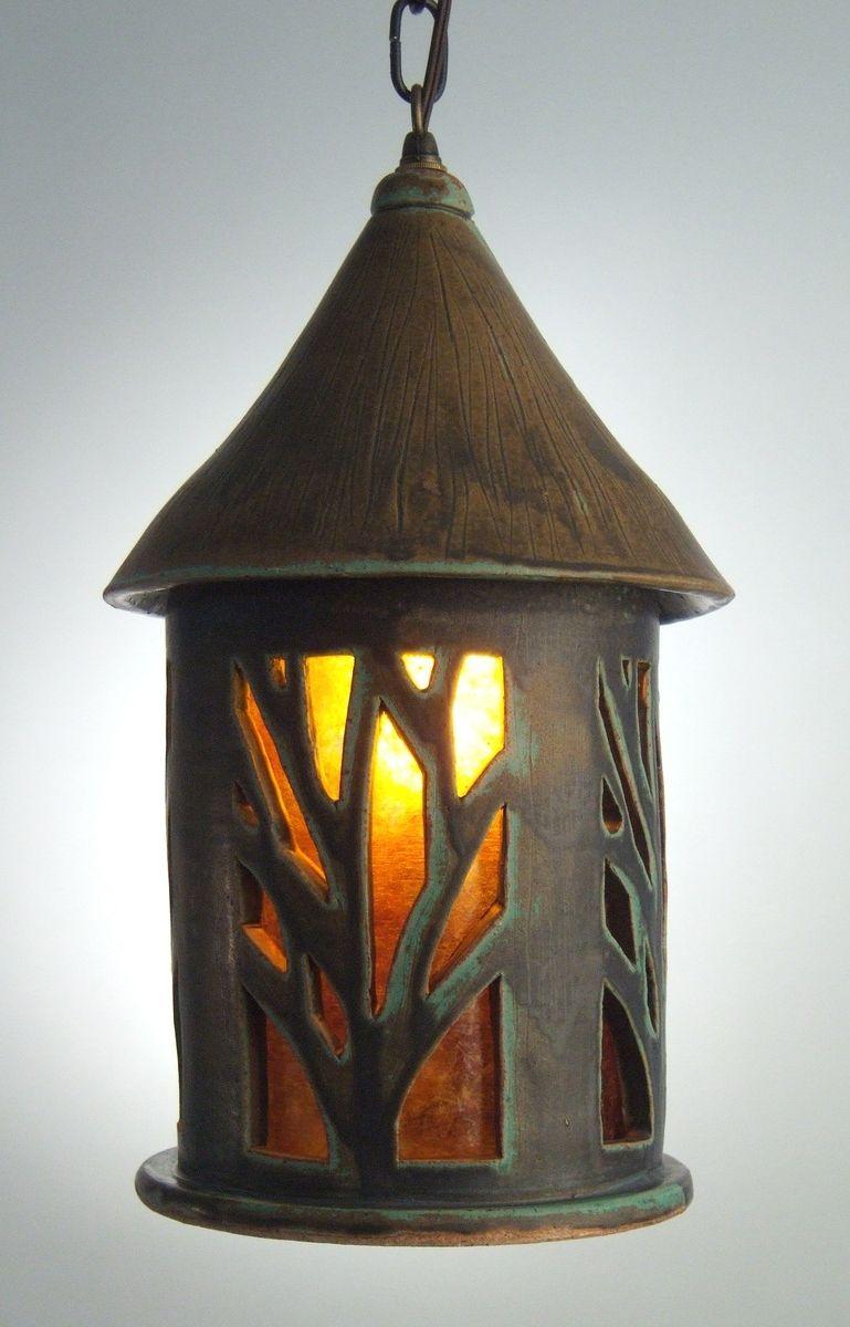 Custom Tall Tree Hanging Pendant Lamp By Grunewald