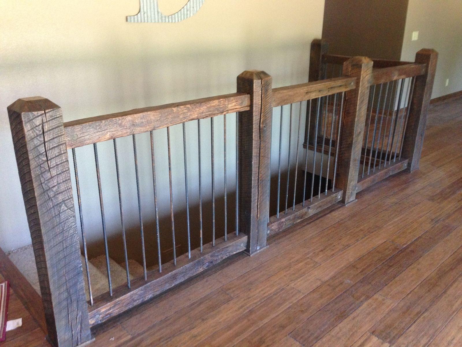 Custom Reclaimed Stair Railings By Stone Creek Cabinetry   Rustic Stair Railings Interior