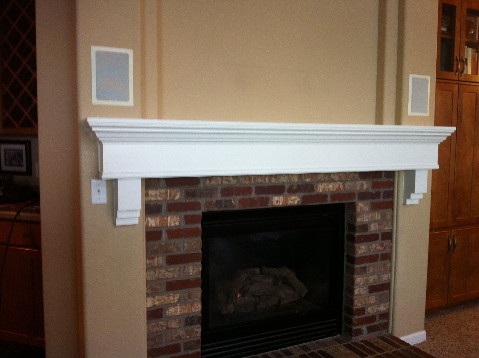 Custom Painted Fireplace Mantle By Parker Custom Woodworks