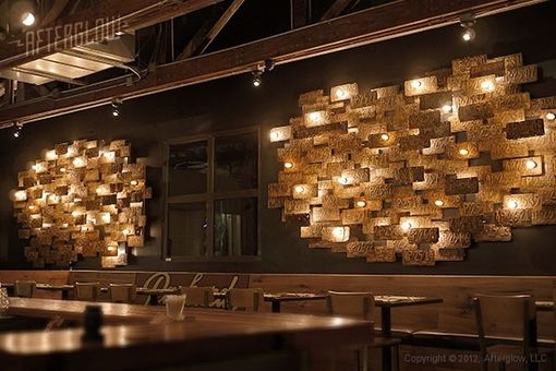 Commercial Installation Wall Murals Matching Chandeliers
