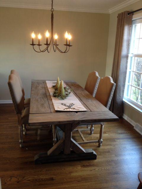 Custom Fancy X Farmhouse Table Farmhouse Dining Table By The Urban Reclaimed Co Custommade Com