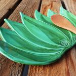 Buy Hand Made Large Agave Plate Ceramic Spoon Rest Made To Order From Robin Chlad Designs Custommade Com