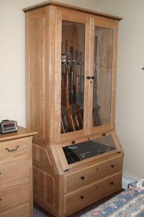 Hand Made Solid Cherry Amp Walnut Gun Cabinet By Robinsons