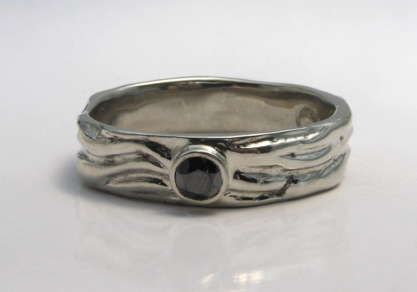 Buy A Hand Crafted Mens Unique Wedding Ring Band Eternal
