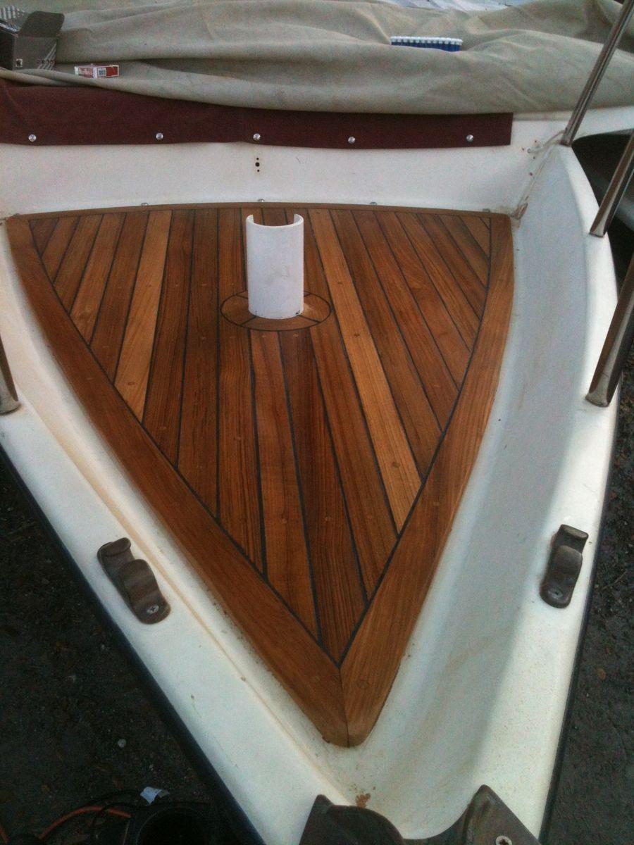 Custom Made Teak Boat Deck By Grateful Woodworks