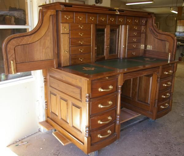 Custom Made Clark Model Roll Top Desk By Roll Top Desk