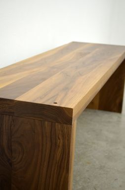Custom Made Modern Solid Walnut Wood Bench By Fabitecture