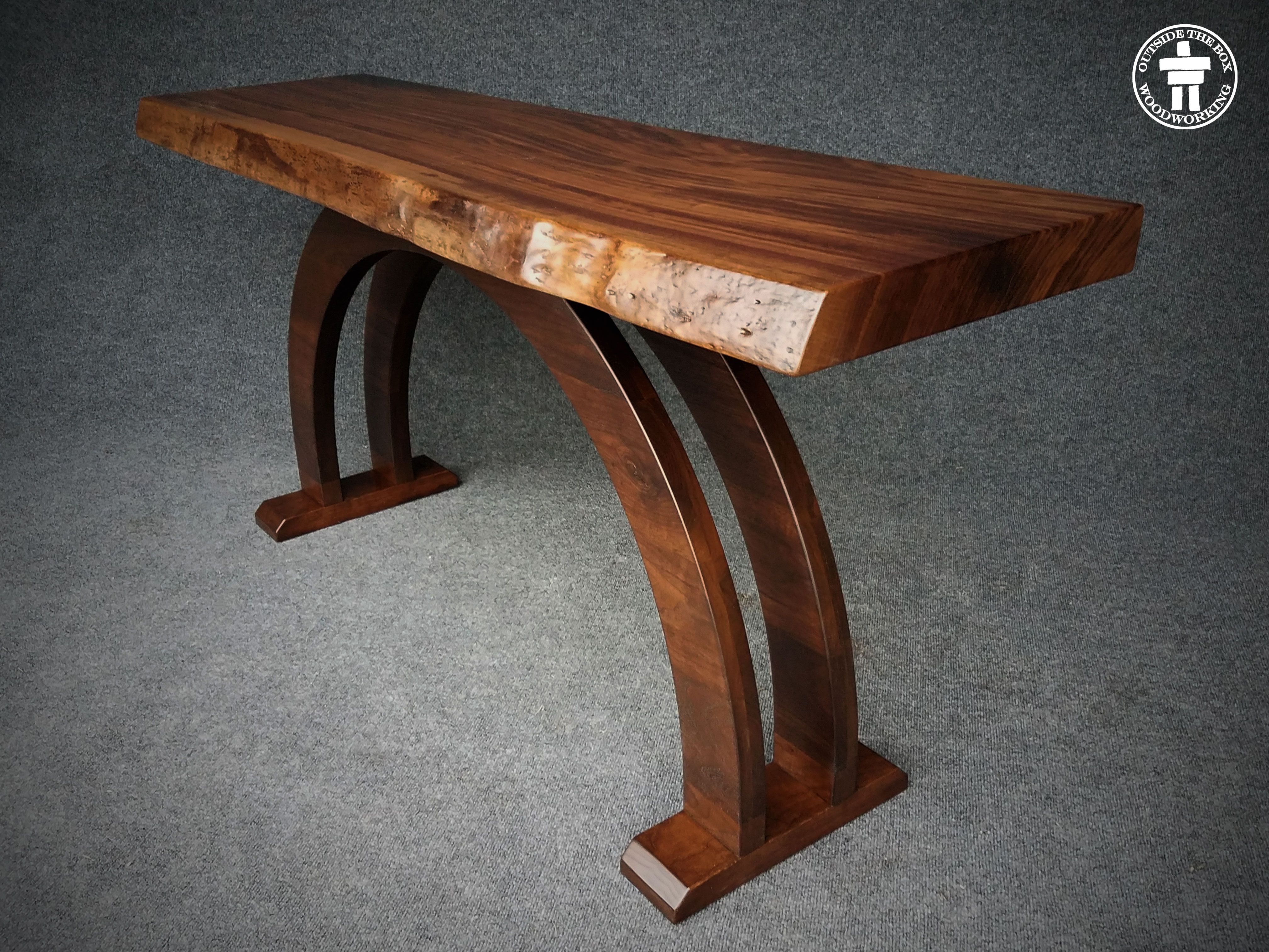 Hand Crafted Live Edge Slab Console Tables By Outside The