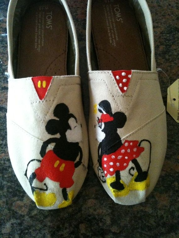 Hand Made Disney Toms By Dittmore Designs