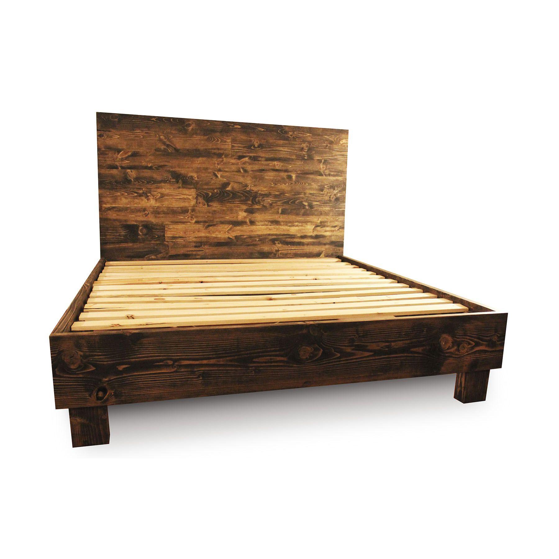 Buy A Custom Made Rustic Solid Wood Platform Bed Frame