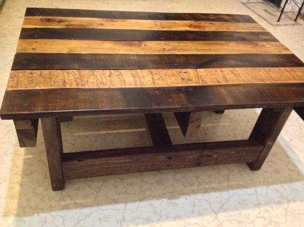 pallet furniture coffee table custom made handmade reclaimed rustic