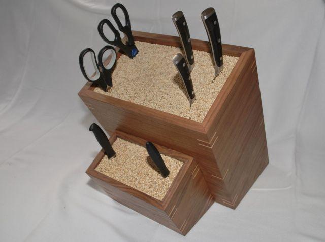 Handmade Custom Made Knife Block by Clark Wood Creations | CustomMade ...