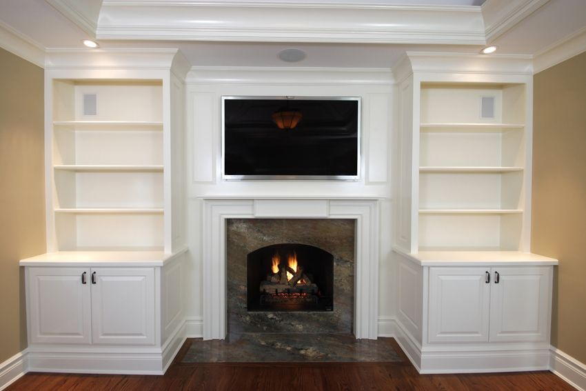 Hand Crafted Built-In Cabinets With Mantel 1 By Fanatic