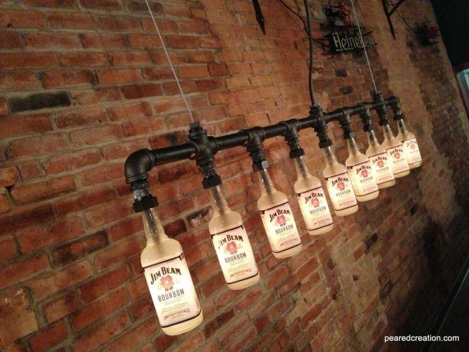 Custom Made Style Chandelier Bottle Light