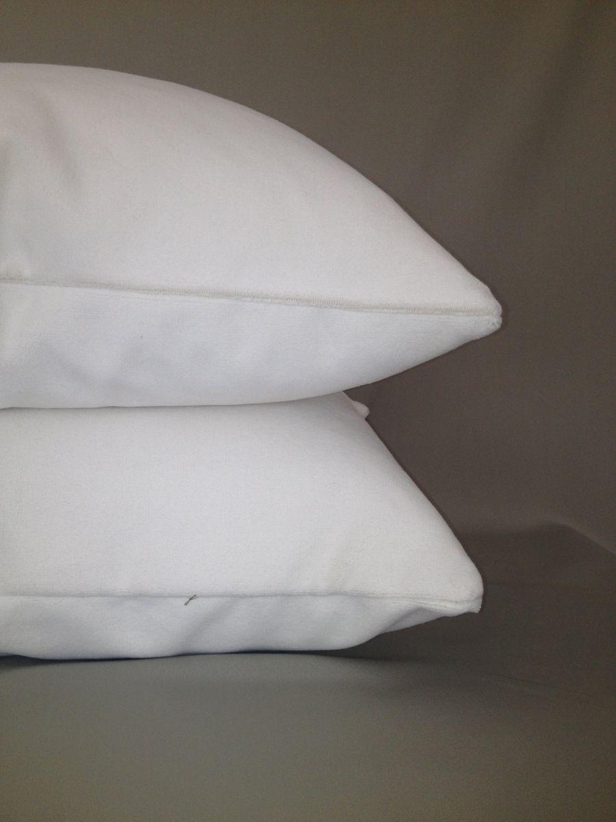 Custom Made White Velvet Pillow Cover By Fenias Workroom
