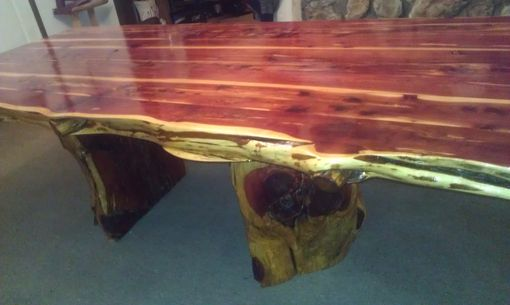 Custom Live Edge Cedar Dining Table Set By Cedar Furniture Lodge