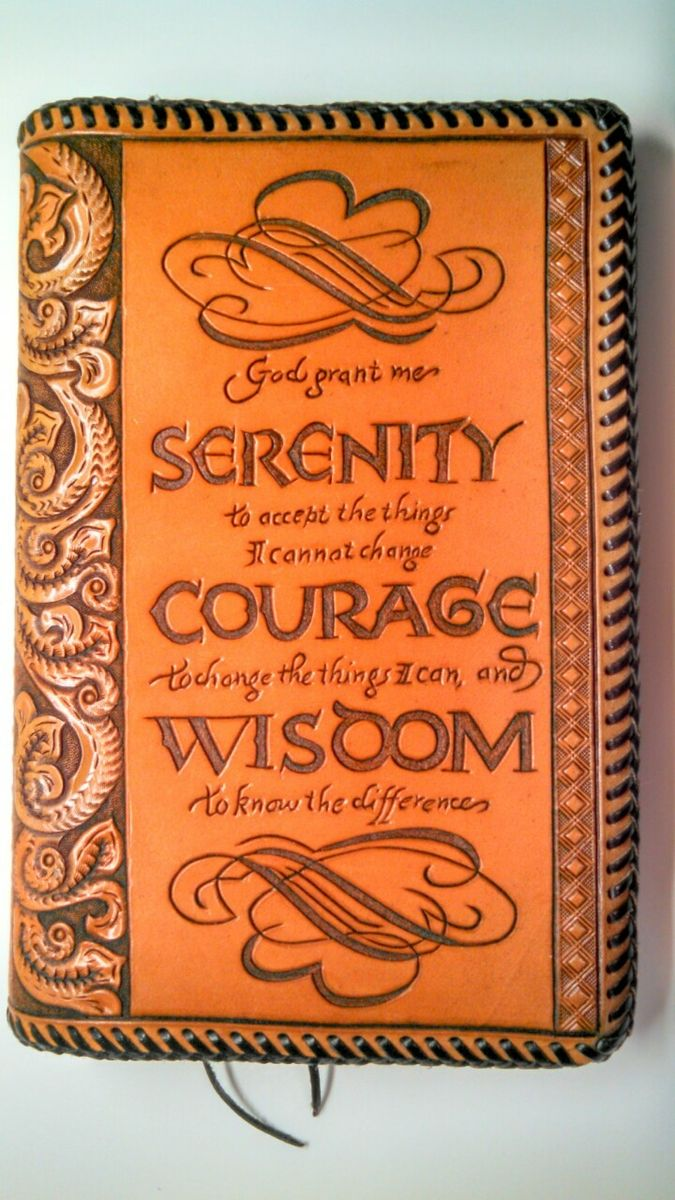 Buy A Hand Made Hand Tooled Leather Cover For Standard Sized Alcoholics Anonymous Big Book Made