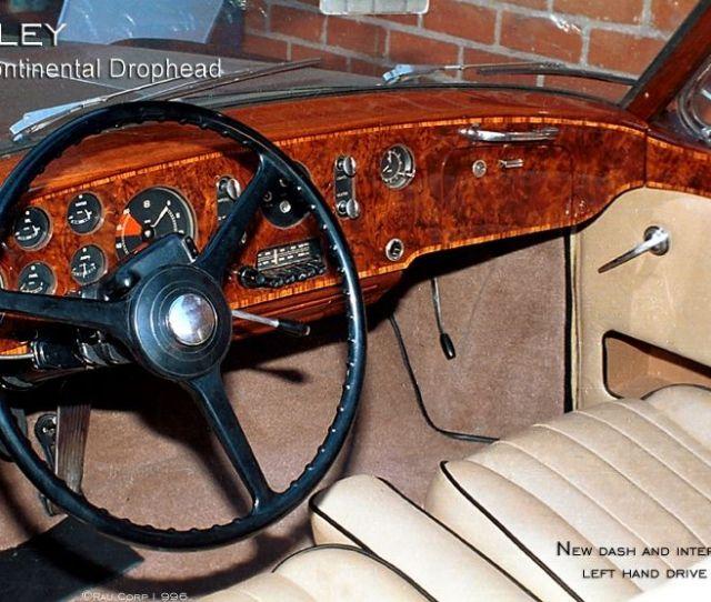 Custom Made Bentley Sdrophead New Wood Dash